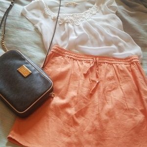 Peach Summer Skirt.